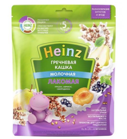 Heinz Каша Лакомая Гречневая Груша, Абрикос, Смородина с молоком, 5мес+, 170 гр хайнц