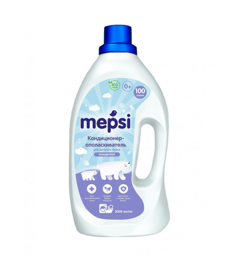 Mepsi Кондиционер-ополаскиватель для стирки детского белья, 2 л