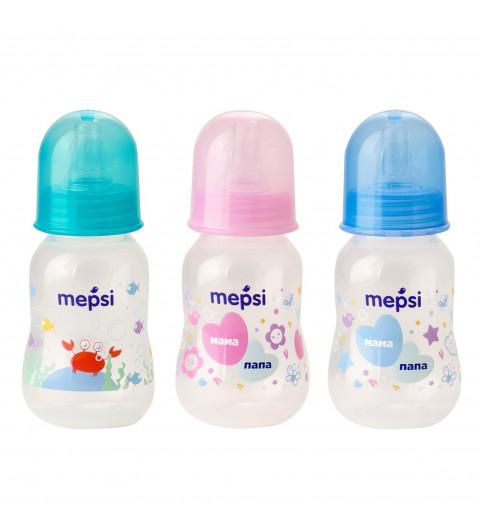 Mepsi Бутылочка для кормления с силиконовой соской, 0мес+, 125 мл