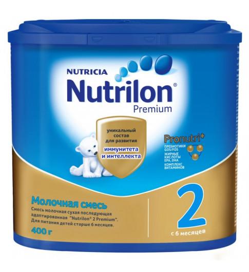 Nutrilon Premium 2 сухая молочная смесь, 6-12мес, 400гр (Нутрилон)