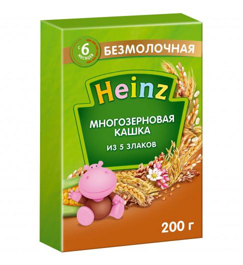 Heinz Каша многозерная 5 Злаков с сахаром, без молока, 6мес+, 200г (Хайнц)