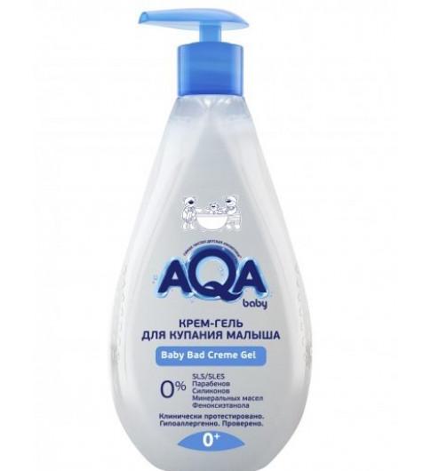 AQA baby Крем-гель для купания малыша, 0мес+, 250 мл