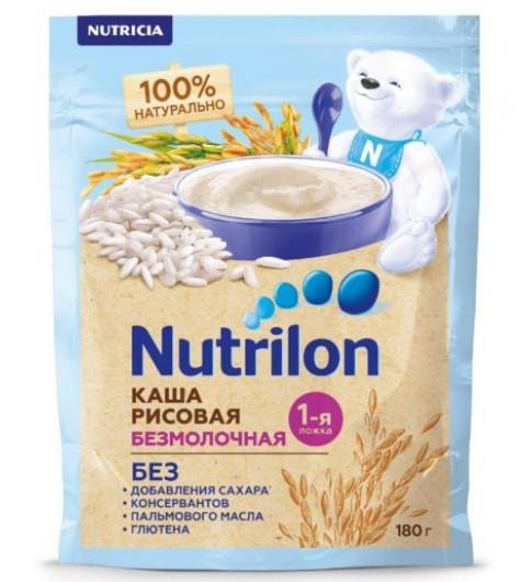 Nutrilon Каша безмолочная, Рисовая, 4мес, 180 гр