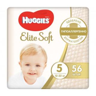 Huggies Подгузники Elite Soft Mega 5 (12-22 кг) 56 шт Хаггис ПОЛУБОКС