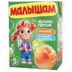 ФрутоНяня Малышам яблоко-персик, 5мес+, 200 мл