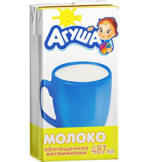 Агуша Молоко, 500 мл, с крышечкой