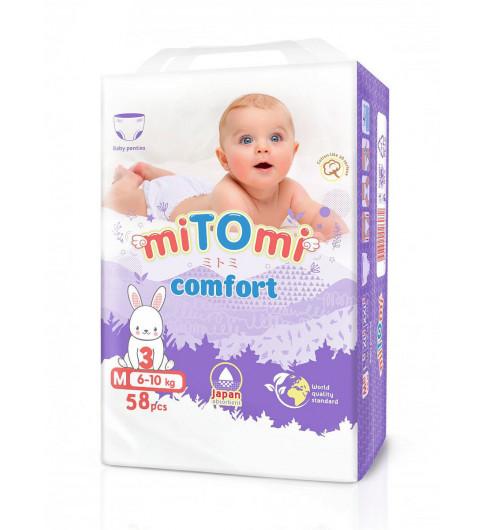 miTOmi Подгузники-трусики Comfort M (6-11 кг), 58 шт