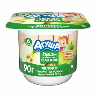 Агуша творог с яблоком, без сахара, 6 мес+, 100 гр до 15 декабря
