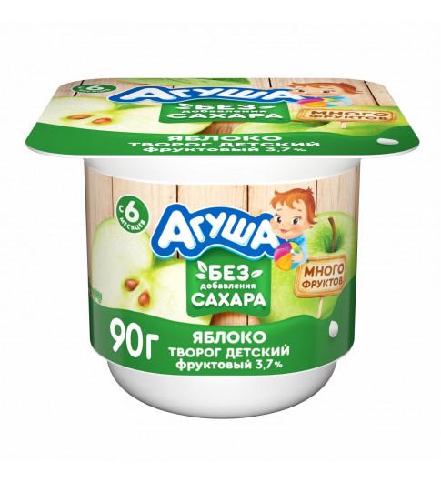 Агуша творог с яблоком, без сахара, 6 мес+, 100 гр  ДО 8 МАЯ