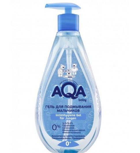 NEW AQA baby Гель для подмывания мальчиков, 400 мл, 0мес+