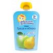 «Бабушкино Лукошко» Пюре из яблок и груш, 5мес+, 90гр