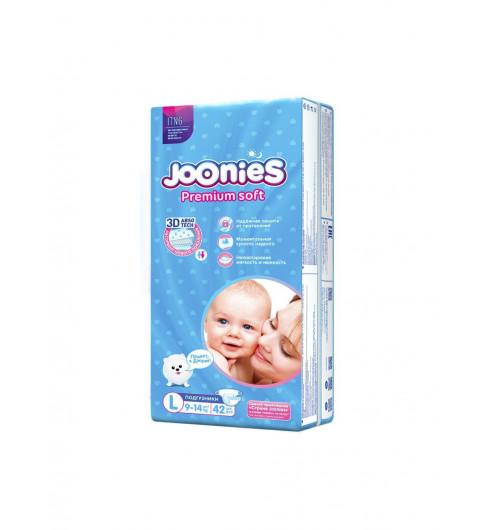 Joonies PremiumSoft Подгузники L 9-14 кг, 42 шт