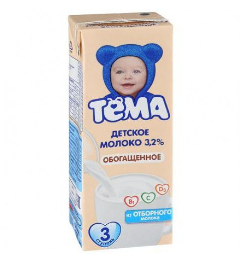 Тема Молоко 3,2% , 200 мл