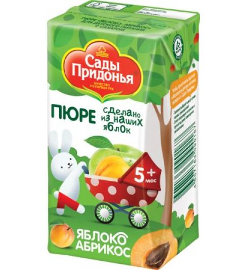 Сады Придонья Пюре Яблоко-абрикос, 5мес+, 125 гр - тетрапак