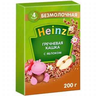 Heinz Каша Гречневая с яблоком, безмолочная, 4мес+, 200 гр Хайнц