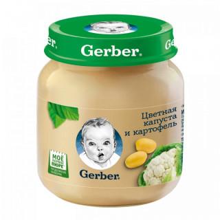 Gerber пюре Цветная капуста/Картофель, 4мес+, 130 гр