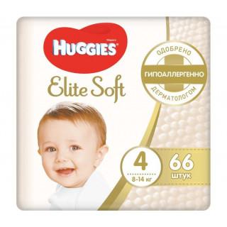 Huggies Подгузники Elite Soft Mega 4 (8-14 кг) 66 шти Хаггис