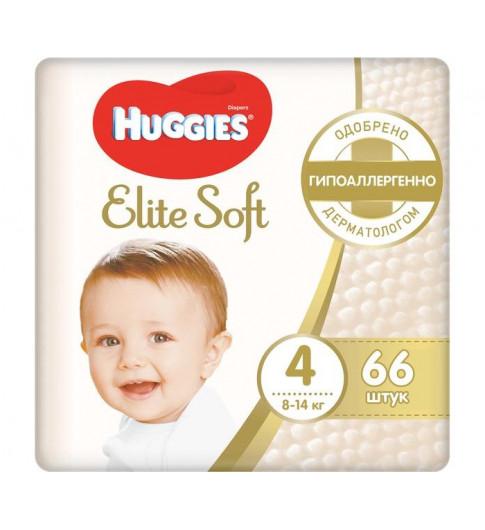 Huggies Подгузники Elite Soft Mega 4 (8-14 кг) 66 шт - ПОЛБОКС