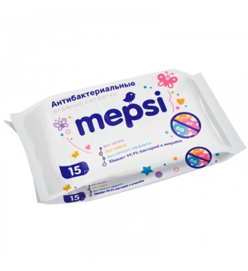 Mepsi Влажные антибактериальные очищающие салфетки 15 шт