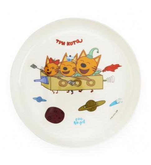 Little Angel тарелка Три Кота Космическое путешествие, 6мес+, 450 мл