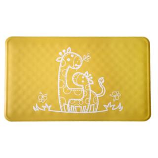Roxy-Kids Антискользящий резиновый коврик для ванны 34x58 см - желтый с рисунком