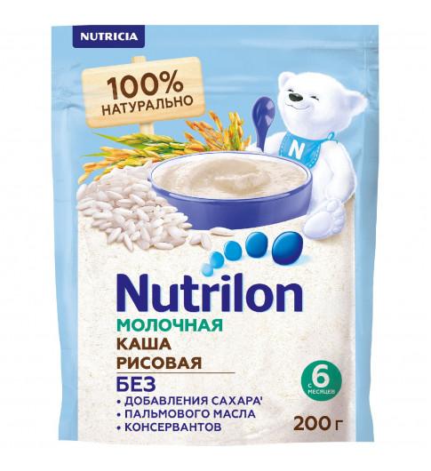 Nutrilon Каша молочная Рисовая, без сахара, 200 гр