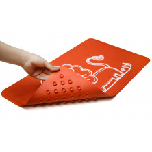 Roxy-Kids Антискользящий резиновый коврик для ванны 34x58 см - красный с рисунком