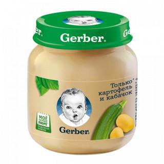 Gerber Пюре Картофель, Кабачок, 5мес+, 130гр