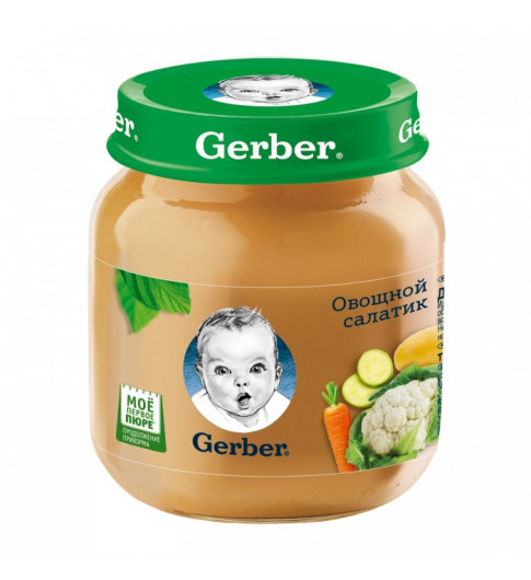 Gerber Пюре Овощной салатик, 5мес+, 130гр