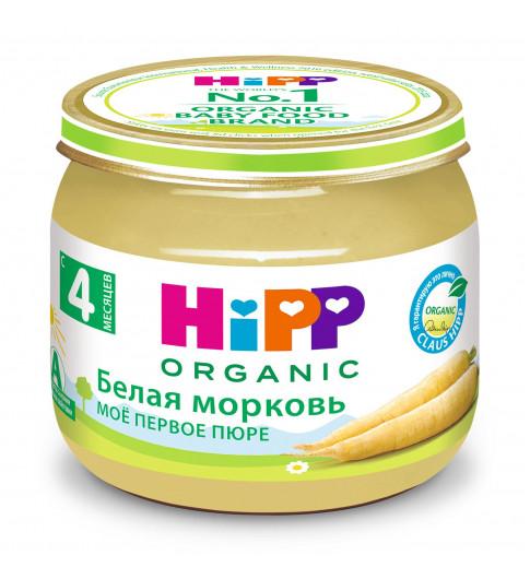 Hipp Мое первое пюре Белая Морковь, 4 мес+, 80гр
