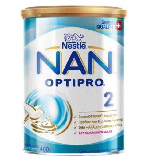 NAN 2 Сухая молочная смесь, 6мес+, 800 гр Нан