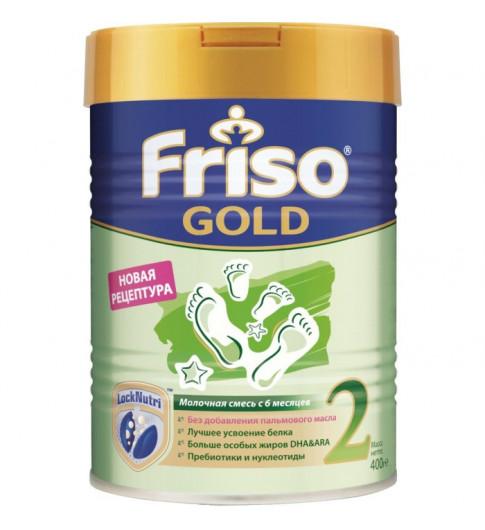Friso (Фрисо) Gold Молочная смесь 2, 6-12мес, 400 гр (без пальмового масла)