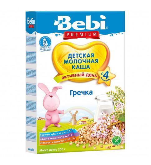 Bebi Premium Каша гречневая, молочная, 4мес+, 200 гр