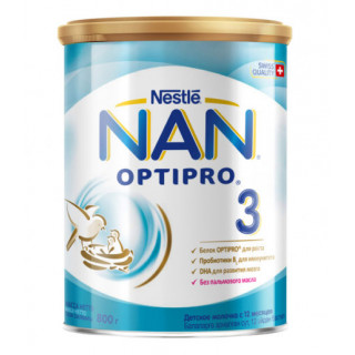 NAN 3 Сухая молочная смесь, 12мес+, 800 гр