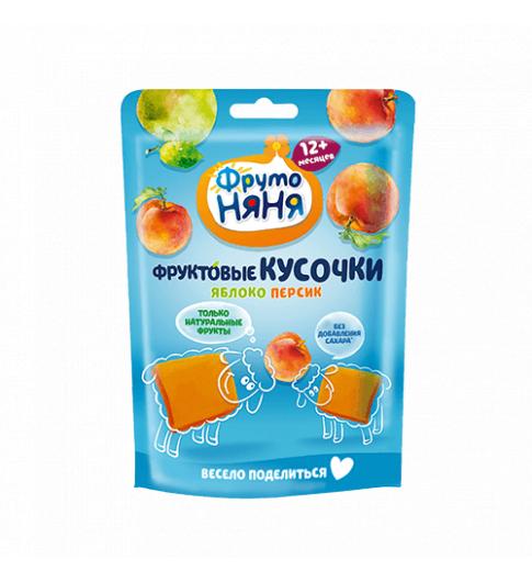 Фрутоняня Кусочки из Яблок и Персиков, 12мес+, 53 гр