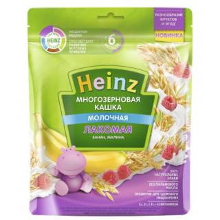 Heinz Каша Лакомая Многозерновая Банан, Малина с молоком, 5мес+, 170 гр