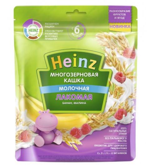 Heinz Каша Лакомая Многозерновая Банан, Малина с молоком, 5мес+, 170 гр (Хайнц)