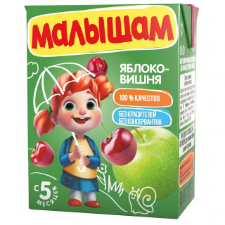ФрутоНяня Малышам яблоко-вишняй, 5мес+, 200 мл