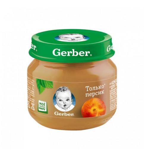 Gerber пюре Персик, 5мес+, 80 гр