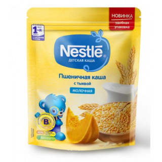 Nestle Каша Пшеничная с тыквой с бифидобакт, молочная, 220гр, 5мес+