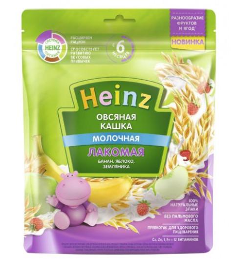 Heinz Каша Лакомая Овсяная Банан, Яблоко, Земляника с молоком, 5мес+, 170 гр хайнц