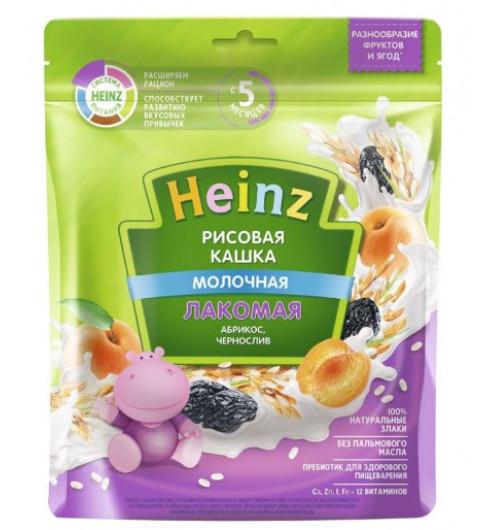 Heinz Каша Лакомая Рисовая абрикос, чернослив, 5мес+, 170гр хайнц