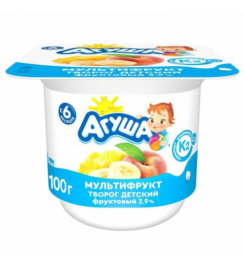 Агуша Биотворог Мультифрукт, 6 мес+, 100 гр