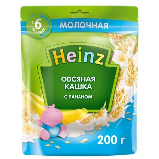 Heinz Каша Овсяная с молоком и  бананом, 6мес+, 200 гр хайнц