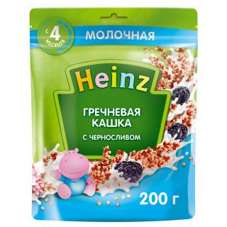 Heinz Каша Гречневая с молоком и черносливом, 4мес+, 200г Хайнц