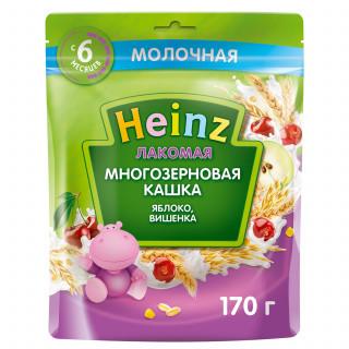 Heinz Каша Лакомая Многозерновая Яблоко Вишенка, молочная, 6мес+, 170 гр