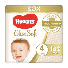 Huggies Подгузники Elite Soft Mega 4 (8-14 кг) 132 шт Хаггис