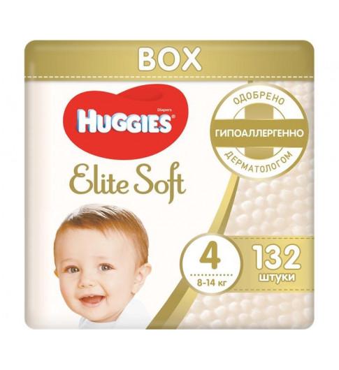 Huggies Подгузники Elite Soft Mega 4 (8-14 кг) 132 шт
