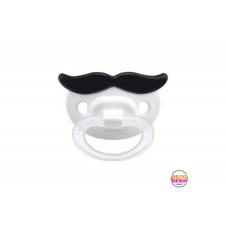 Happy baby Соска-пустышка силиконовая Усы, 0мес+