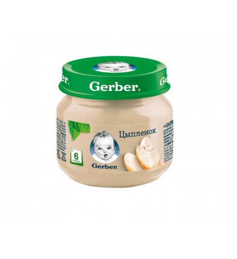Пюре Gerber цыпленок, 6мес+, 80 гр — без рисовой муки Гербер